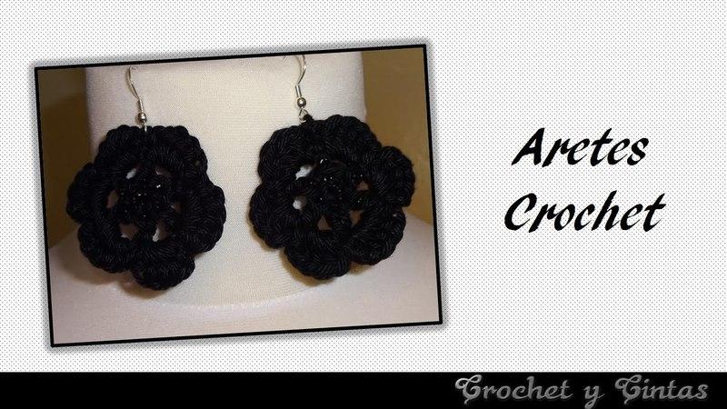 Aretes tejidos a crochet (ganchillo)