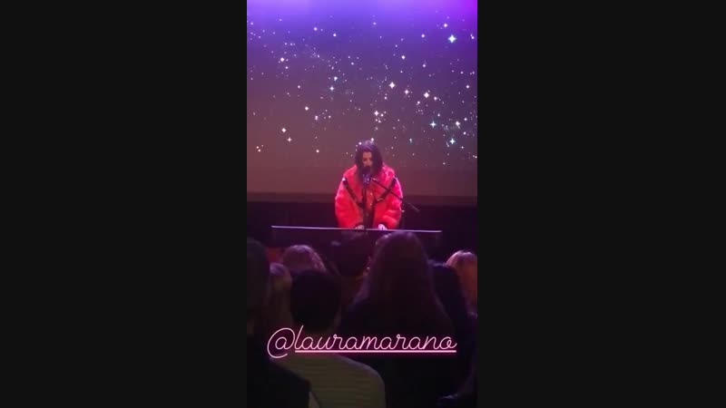 IGStory _ajgibson @lauramarano performing let me cry at the roxy! LauraAtTheRoxy