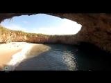 Фантастический Скрытый пляж Любви на островах Мариета в Мексике