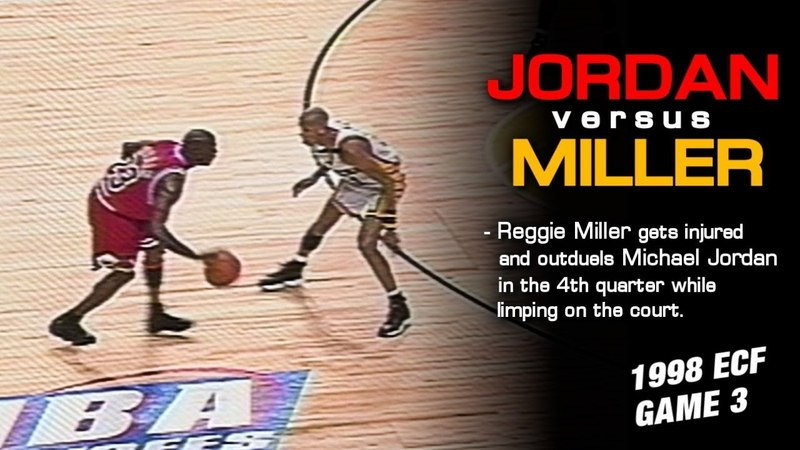 Reggie Miller Saves The Day Over Michael Jordan In Epic 4th Quarter Shootout! (1998 East Finals)