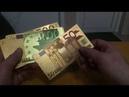 Набор из семи банкнот евро из золотой фольги с joom джум