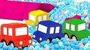 Las historias de 4 coches coloreados Dibujos animados español