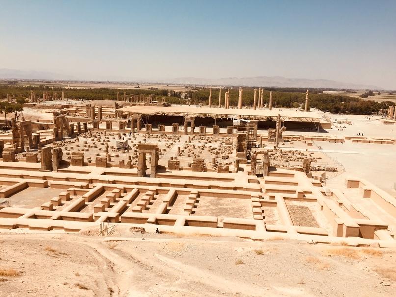 Пасаргад Персеполис Шираз. Персеполис с высоты
