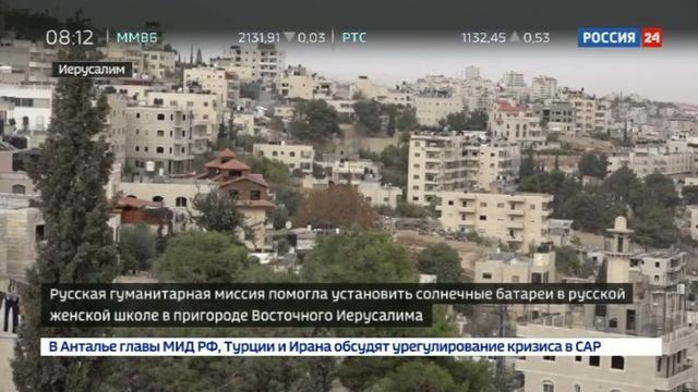 Новости на Россия 24 • Да будет свет русской школе в Палестине подарили электростанцию