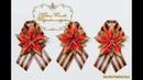Брошь из георгиевской ленты к 9 мая Канзаши Brooch from St George's ribbon by May 9 Kanzashi