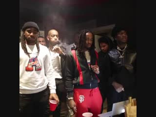 K Camp in the studio with Quavo and Lil Durk