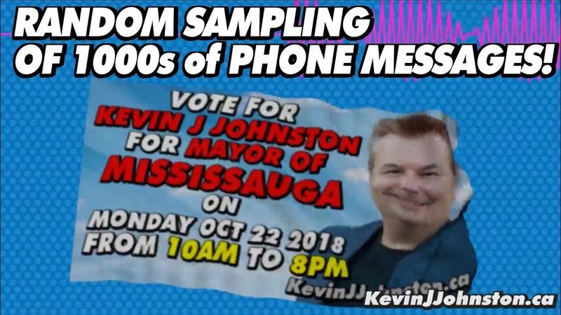 Random Sampling of Thouands of Phone Messages Left for Kevin J Johnston