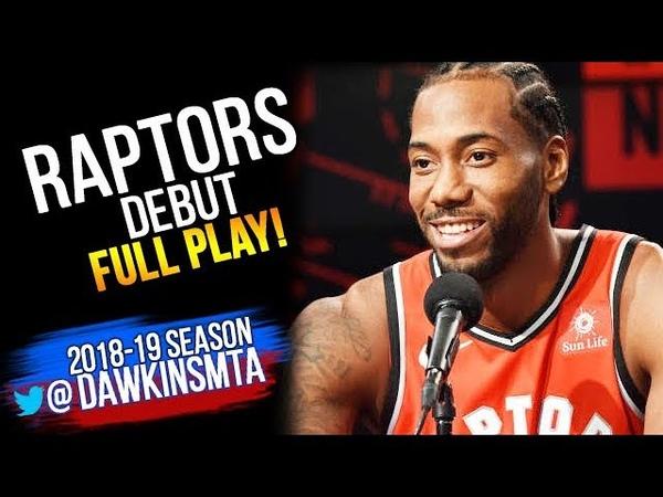 Kawhi Leonard Raptors DEBUT Full Play 2018.09.29 vs Blazers - 12 Pts, 3-8 FGM | FreeDawkins