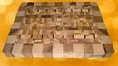 Торцевая разделочная доска из шести пород дерева