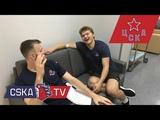 Никита Нестеров, Кирилл Капризов и Михаил Григоренко проходят медосмотр