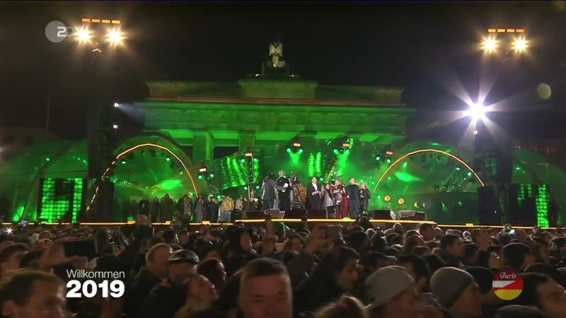 Berlīne sagaida jauno 2019. gadu pie Brandenburgas vārtiem (Willkommen 2019 - Silvesterparty am Brandenburger Tor) 🇩🇪️🎄🌟❄️