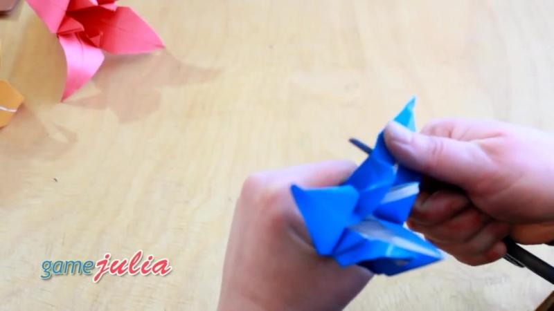 ЛИЛИЯ ИЗ БУМАГИ Оригами цветы