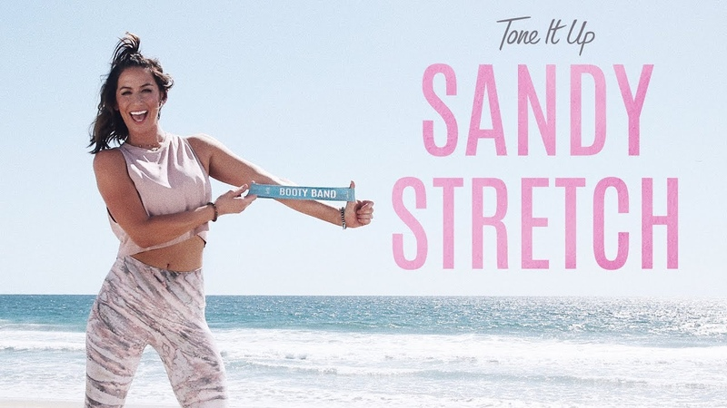 Tone It Up Sandy Stretch   The Best 10-Minute Stretch Routine