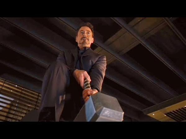 Мстители пытаются поднять Молот Тора Мстители Эра Альтрона 2015