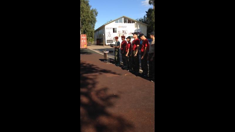Вручение оливковых беретов курсантам ВПО в Учебном Центре Витязь