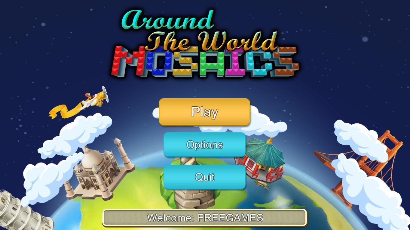 Вокруг света Мозаика   Around The World Mosaics (En)