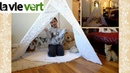 Lavievert Lace Teepee Children Indian Playhouse Indoors and Outdoors Kids Tent