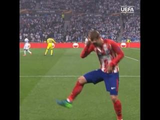 Танец Гризманна в финале Лиги Европы