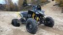На квадриках по лесу Yamaha YFZ450R YFM700 CRASH Honda TRX700 Kawasaki KFX450 moto Aprilia