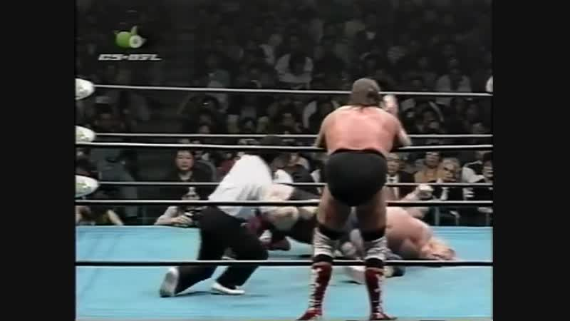1997.04.19 - Stan Hansen/Gary Albright/Takao Omori vs. Johnny Ace/Steve Williams/Johnny Smith