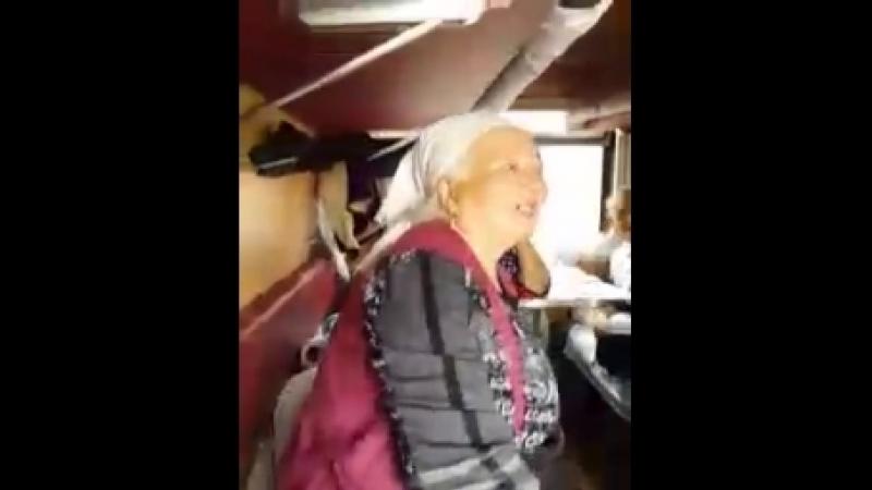 Бабка в поезде