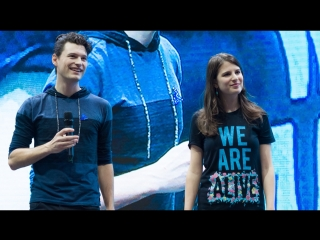 COMIC CON RUSSIA 2018 Крокус Экспо. 07/10/2018 - Bryan Dechart and Amelia Rose Blair