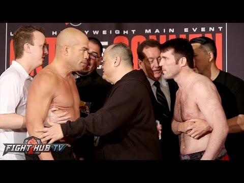 Tito Ortiz vs Chael Sonnen COMPLETE Weigh in Face Off Video - Bellator 170