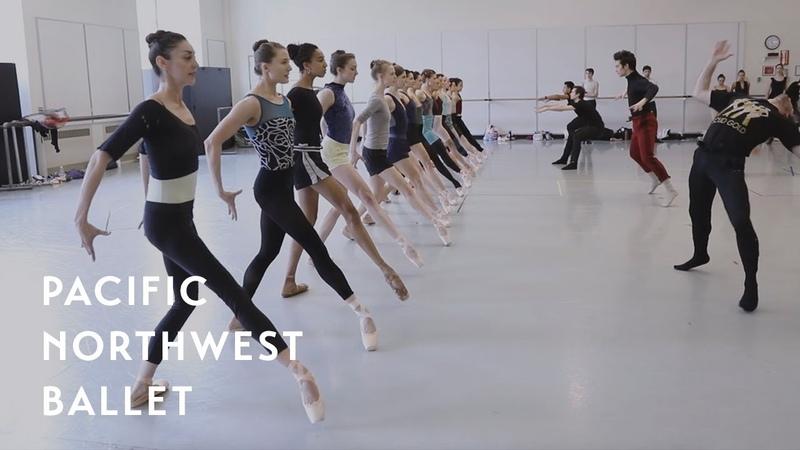 Crystal Pite's Emergence rehearsal Pacific Northwest Ballet