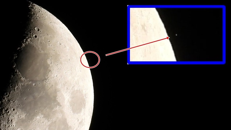 Something is happening on the moon, take a Look (Raw footage)