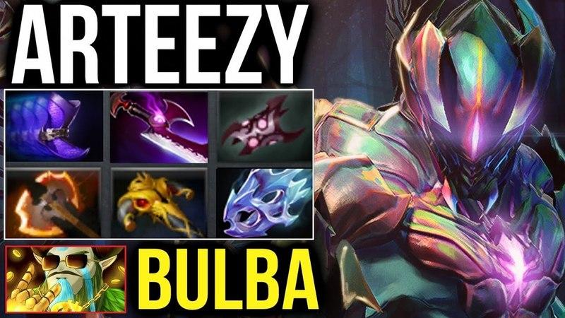 Arteezy Battle Fury Night Stalker Carry Mode ft Bulba DOTA 2