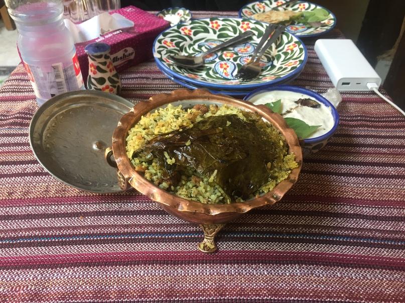 Шираз и самолет на остров Киш. традиционное ширазское блюдо - Kalampolo