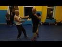 В.Н.Крючков. Защита переборкой от прямого удара ногой двойка