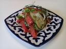 Салат Путешественника с помидорами,огурцами и сиропом