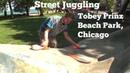 Street Juggling Episode 2 Tobey Prinz Beach Park Chicago