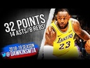 LeBron James Full Highlights 2018 10 22 Lakers vs Spurs 32 Pts 14 Asts FreeDawkins