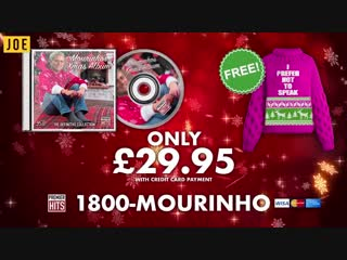 Introducing the josé mourinho christmas album 2018. for the special one in your