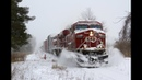CP Trains in a Snow Storm HD