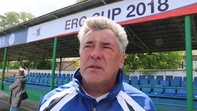 Тренер команды Динамо 2008 Виталий Жилкин в о турнире на Кубок ERG