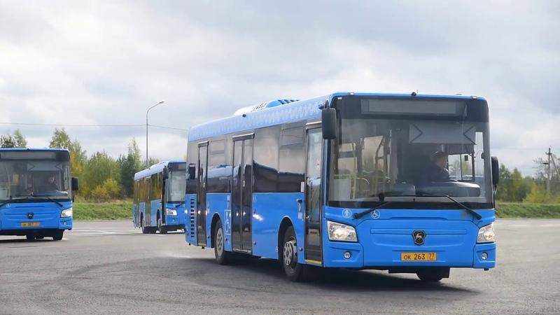 Автобусы ЛиАЗ-4292.60 переданные Мосгортрансом в Архангельск