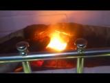 Искусственный камин из старого комода и реалистичной имитацией горения дров/ своими руками/обзор изготовления/горящие угли/