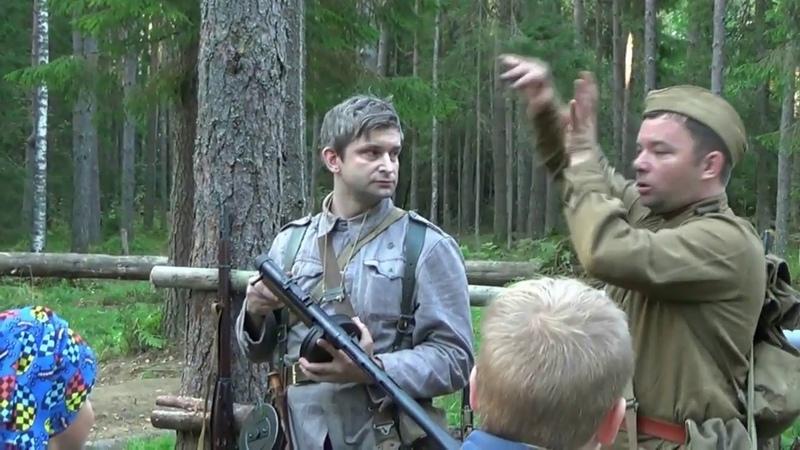 Фрагмент лекции о пистолете пулемете Суоми и эксперимент