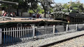 War tanks transportation through train.... In mahabubabada