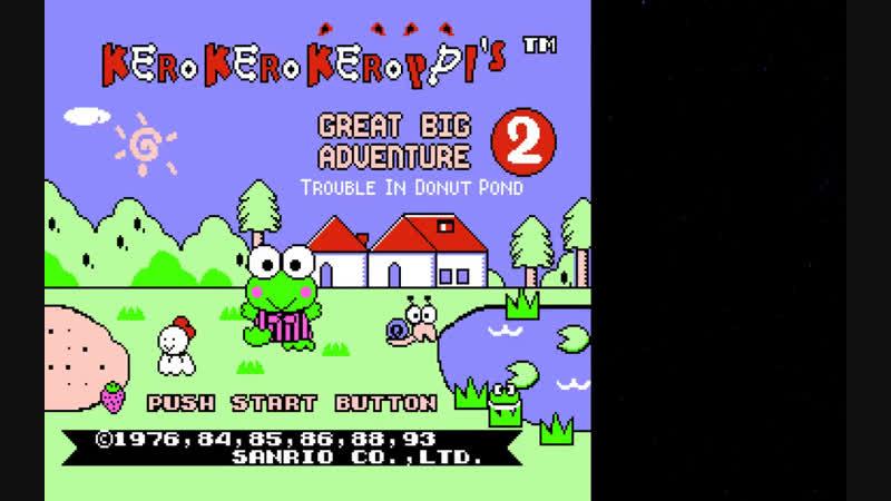 Прохождение Kero Kero Keroppi no Daibouken 2 - Donuts Ike ha Oosawagi! (NES) от FrostStallion! 🎮