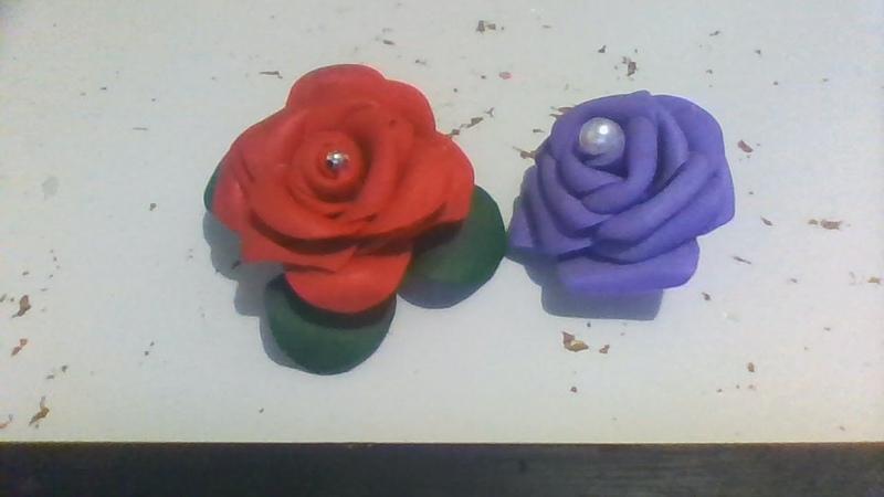 Rosa em eva (topiaria) sem frisador ,fácil de fazer para arranjo/festa /centro de mesa