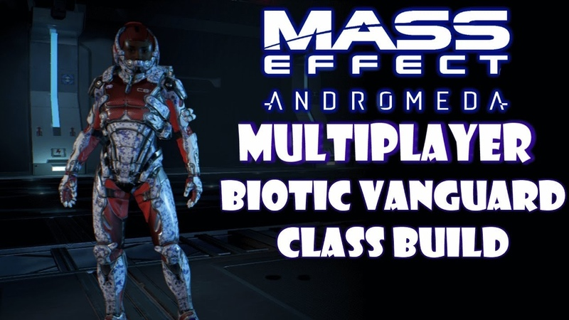 Human Female Vanguard Gold SOLO Mass Effect Andromeda Multiplayer BUILD GUIDE