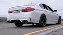 2018 BMW F90 M5 w ARMYTRIX Cat Back Exhaust stock downpipes retained pure SOUNDS LOUD