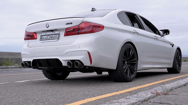2018 BMW F90 M5 w/ ARMYTRIX Cat-Back Exhaust (stock downpipes retained) - pure SOUNDS LOUD!