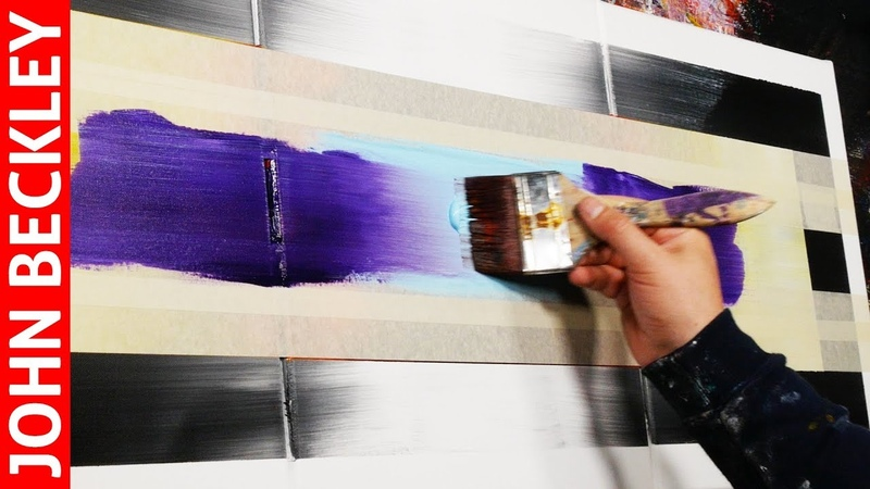 Abstract Painting EASY With Masking Tape | Eternity
