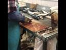 Стол разделочный для рыбы со сбросом