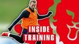 England Show off Sensational Finishing Skills as Squad Prepares For Czech Republic Inside Training